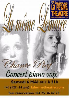 Brigitte Lemaire chante PIAF SAMEDI 6 Mai 2017 à 21h