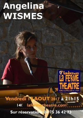 Angélina WISMES en concert le vendredi 18 août 2017 à 21h15