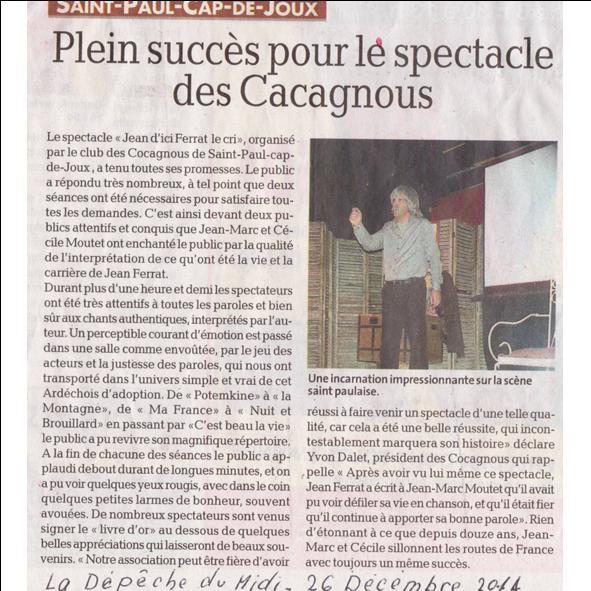 Article st paul cap de joux