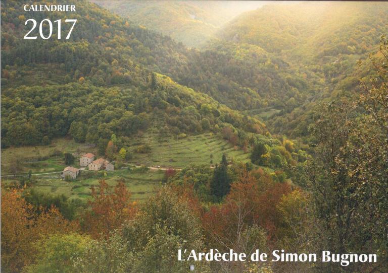 Calendrier ARDECHE 2017 Simon BUGNON