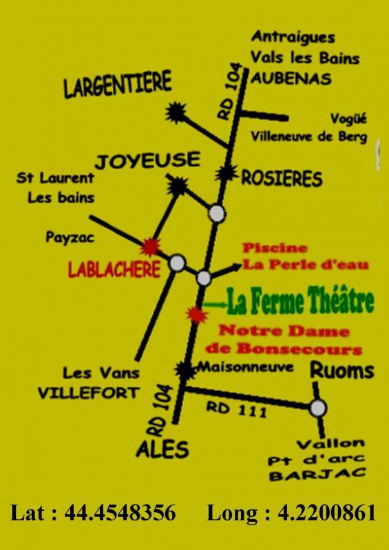 Carte localisation ferme theatre