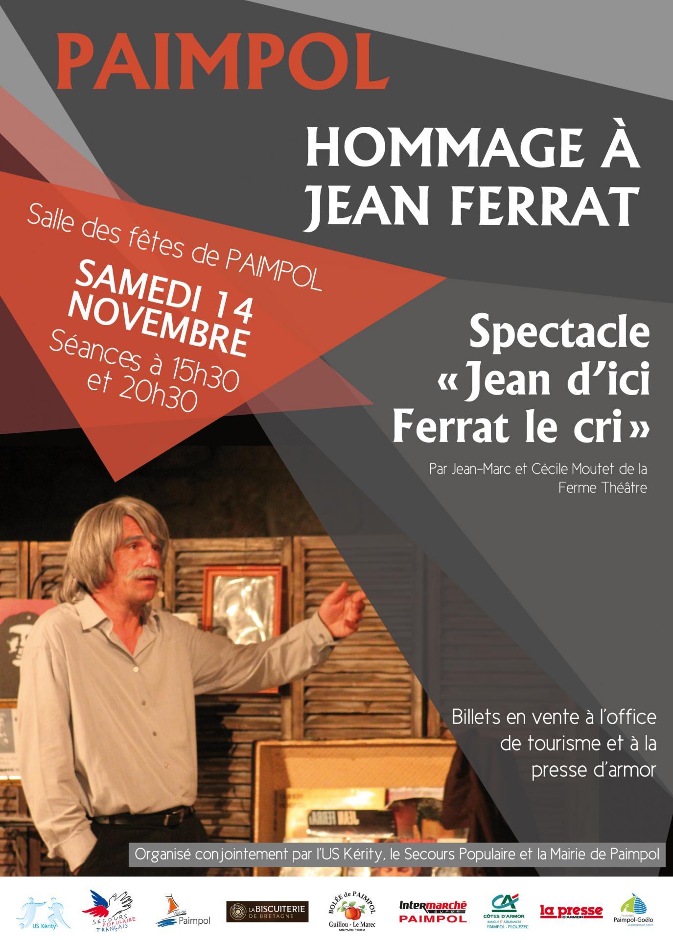 Jean ferrat affiche pour 14 11 2015