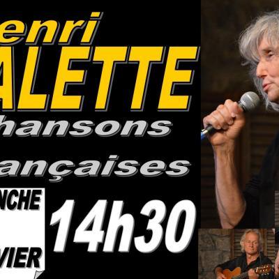 """Henri Valette """"Chansons françaises"""" dimanche 14 janvier 2018 à 14h30"""