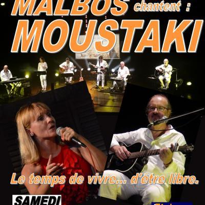 """""""Moustaki"""" par Isa, Bernard Malbos et le groupe A2M samedi 25 août 2018 à 21h15"""