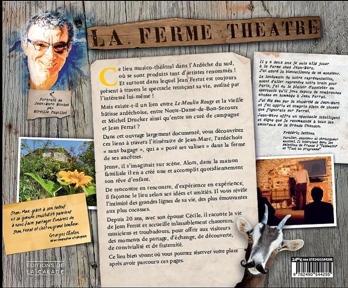 4eme de couverture de la ferme au theatre