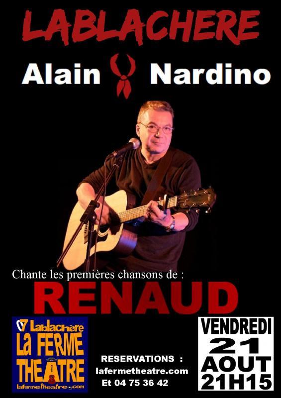 Alain nardino chante renaud a lablachere ardeche 21 juillet 2021