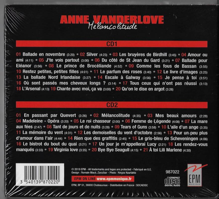 Anne vanerlove 41 titres