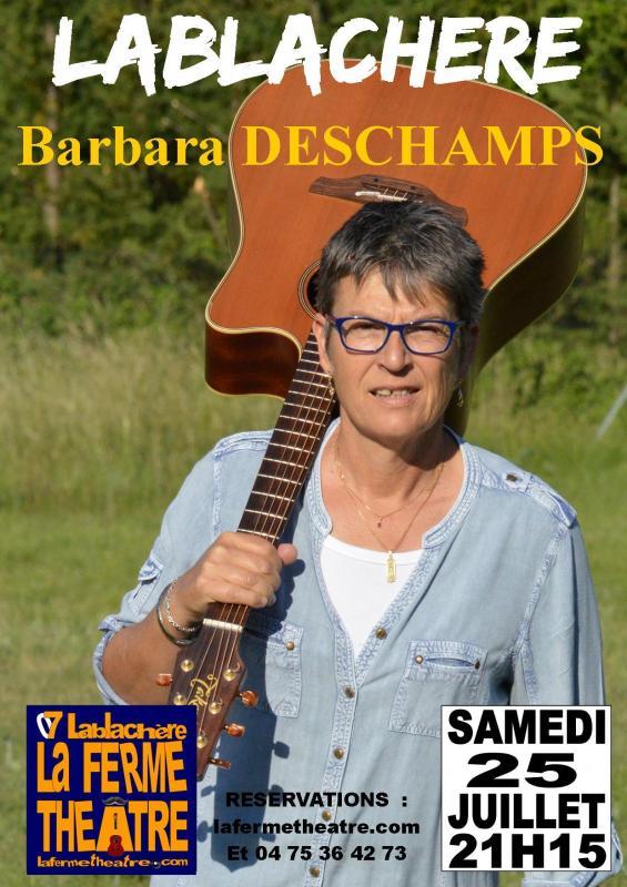 Barbara deschamps en concert a lablachere ardeche 25 juillet 2020