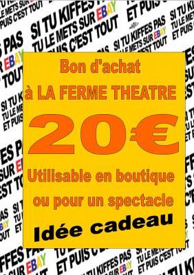 BON D'ACHAT 20€ valable en boutique ou pour un spectacle (sur réservation)
