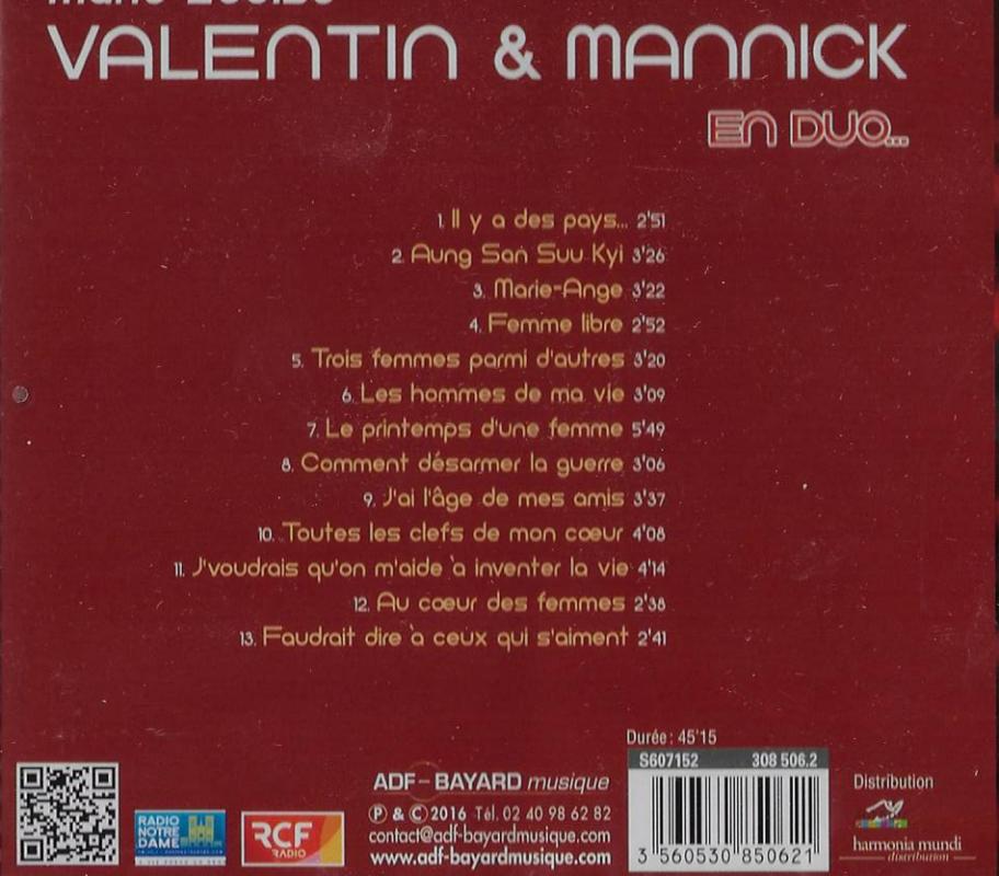 Mannick et marie louise valentin