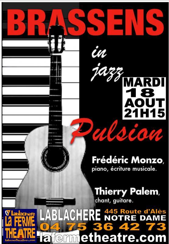 Mardi 18 aout pulsion brassens en concert