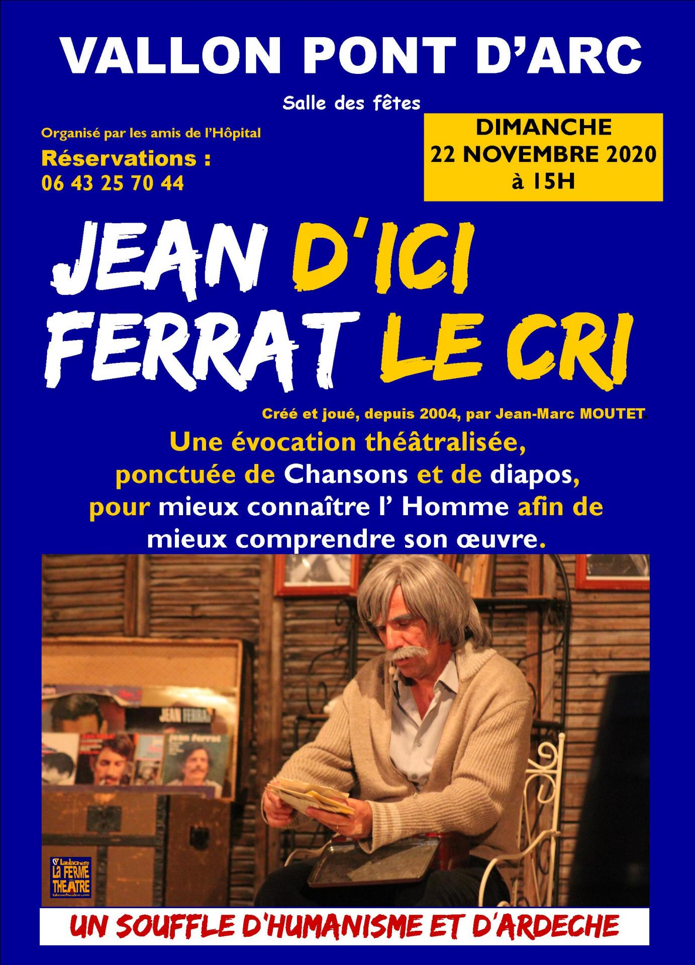 Spectacle sur jean ferrat a vallon pont d arc le 22 11 2020